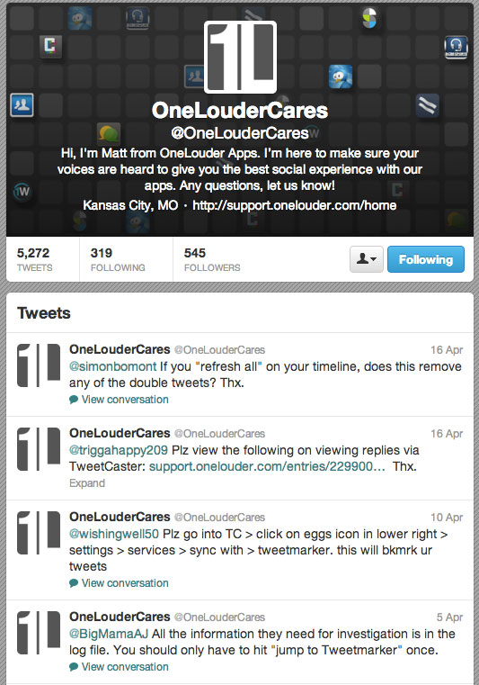 one-louder-cares-twitter-feed